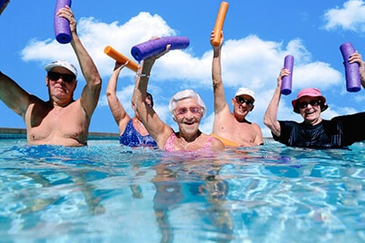 seniors swimming pool