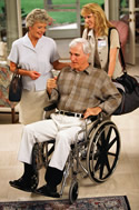 elder man in wheelchair