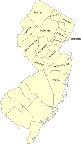 New Jersey Home Care Service Area for In Home Care