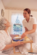 New Jersey home care client in bed