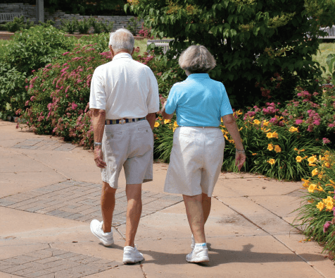 Walking Seniors Improve Their Health