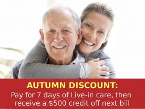 Autumn Discount for NJ Live In Home Care